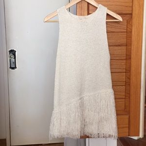 H&M collection fringe knit tank
